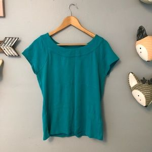 Rafaella short sleeve top size large
